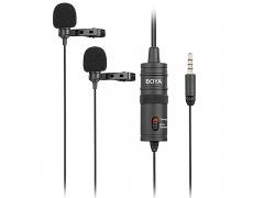 Boya M1DM Dual Omni-directional Lavalier Microphone