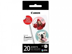 """Canon ZINK™ 1.3"""" Pre-Cut Circle Sticker Pack, 20 sheets"""