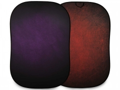 Lastolite Vintage Collapsible 1.5 x 2.1m (5' x 7') Aubergine/Crimson