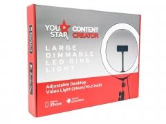 YouStar Content Creator 26cm LED Ring Light & Tripod Desktop stand