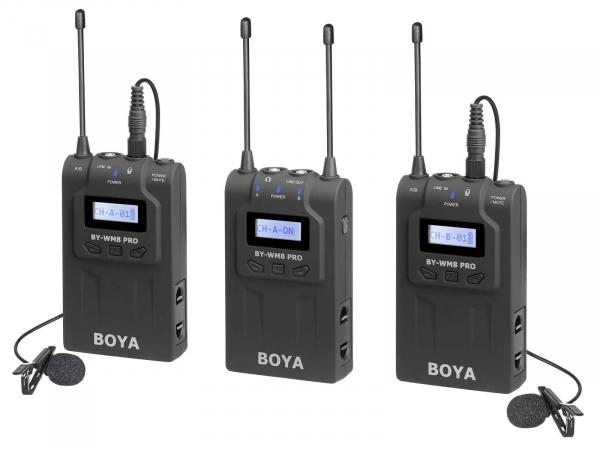 Boya WM8 Pro K2 UHF Dual-Channel Wireless Microphone System