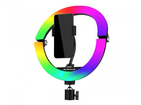 """Camera Centre 10"""" Foldable LED Ring Light RGB"""