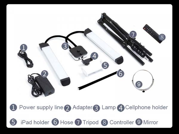 Camera Centre Beauty Blogger Twin Arm LED Light Kit