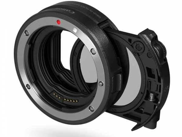 Canon Drop-In Filter Mount Adapter EF EOS R with Circular Polarizer Filter