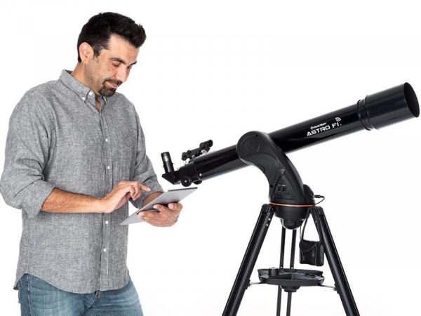 Celestron AstroFi 90 Wi-Fi Refractor Telescope