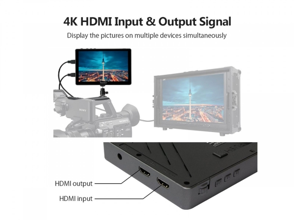 """DesView R7 7"""" On Camera Monitor With Touch Screen"""