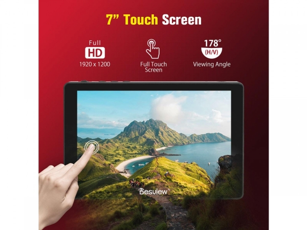 """DesView R7 PLUS 7"""" On Camera Monitor With Touch Screen"""