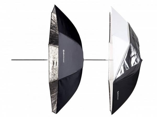 Elinchrom 105cm Umbrella set (Shallow Silver & White/Trans