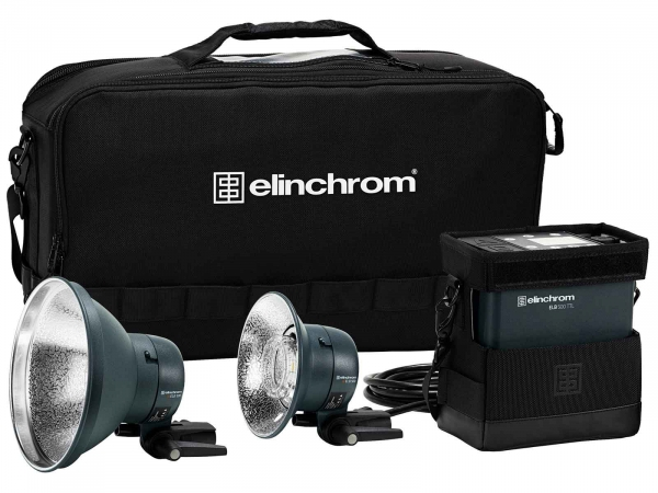 Elinchrom ELB 500 TTL Dual Head To Go Kit
