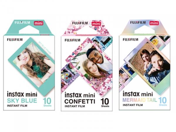 Fuji Instax Deco Film 30 Shot Multi Pack (Confetti, Blue Frame & Mermaid)