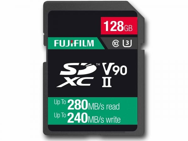 Fujifilm 128Gb SDHC UHS ll V90 Pro Card (280/240MB/s)