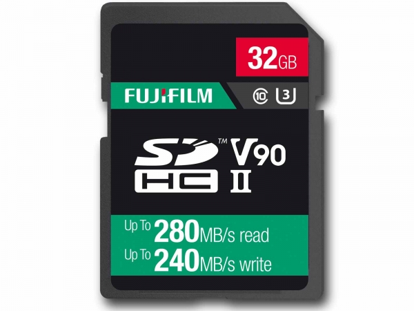 Fujifilm 32Gb SDHC UHS ll V90 Pro Card (280/240MB/s)