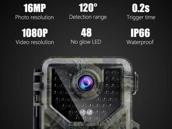 K&F HB-E2 1080P 16MP HD Motion Night Vision Camera