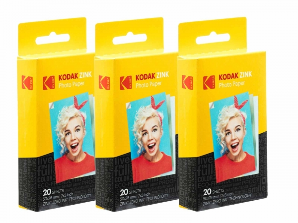"""Kodak Zink Instant print 2.1""""x3.4"""" 60PK"""