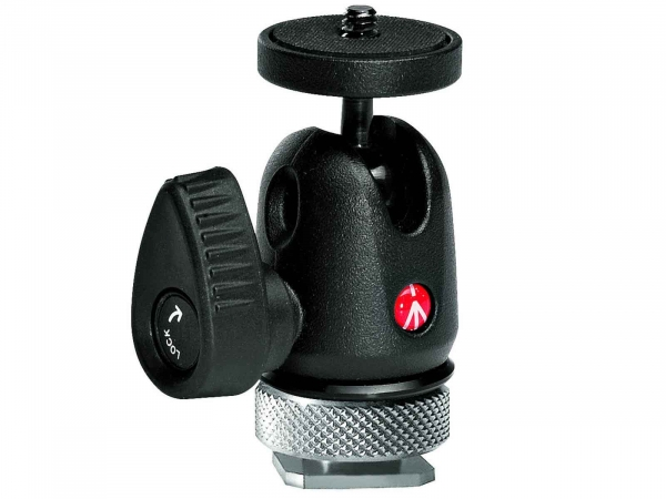 Manfrotto MH492LCD-BH Micro Ball Head With Hot Shoe