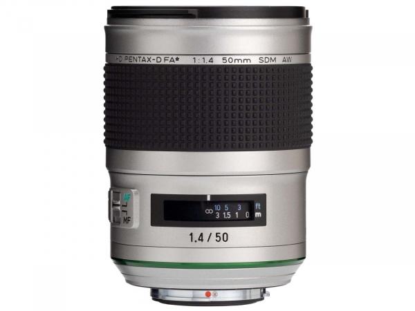 Pentax HD-D FA-50mm F:1.4 SDM AW Silver Edition